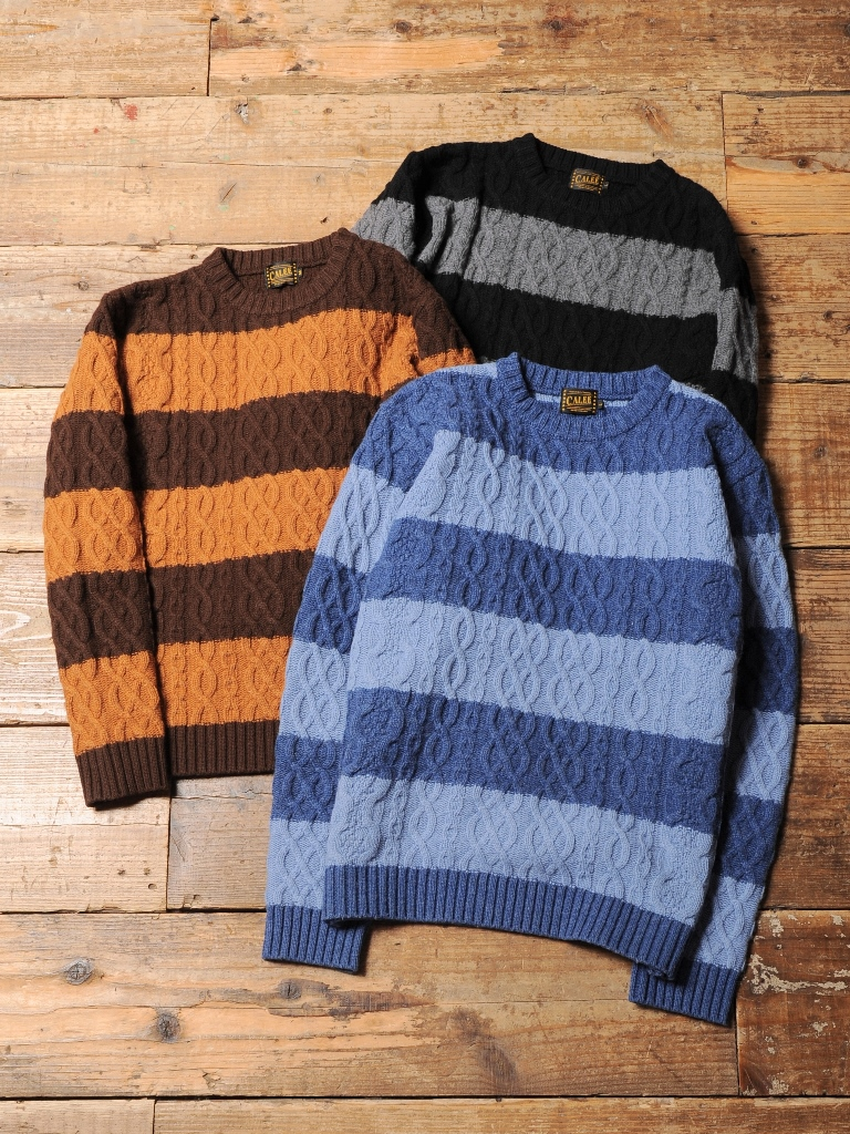 CALEE  「BORDER KNIT SWEATER」 ボーダーニットセーター