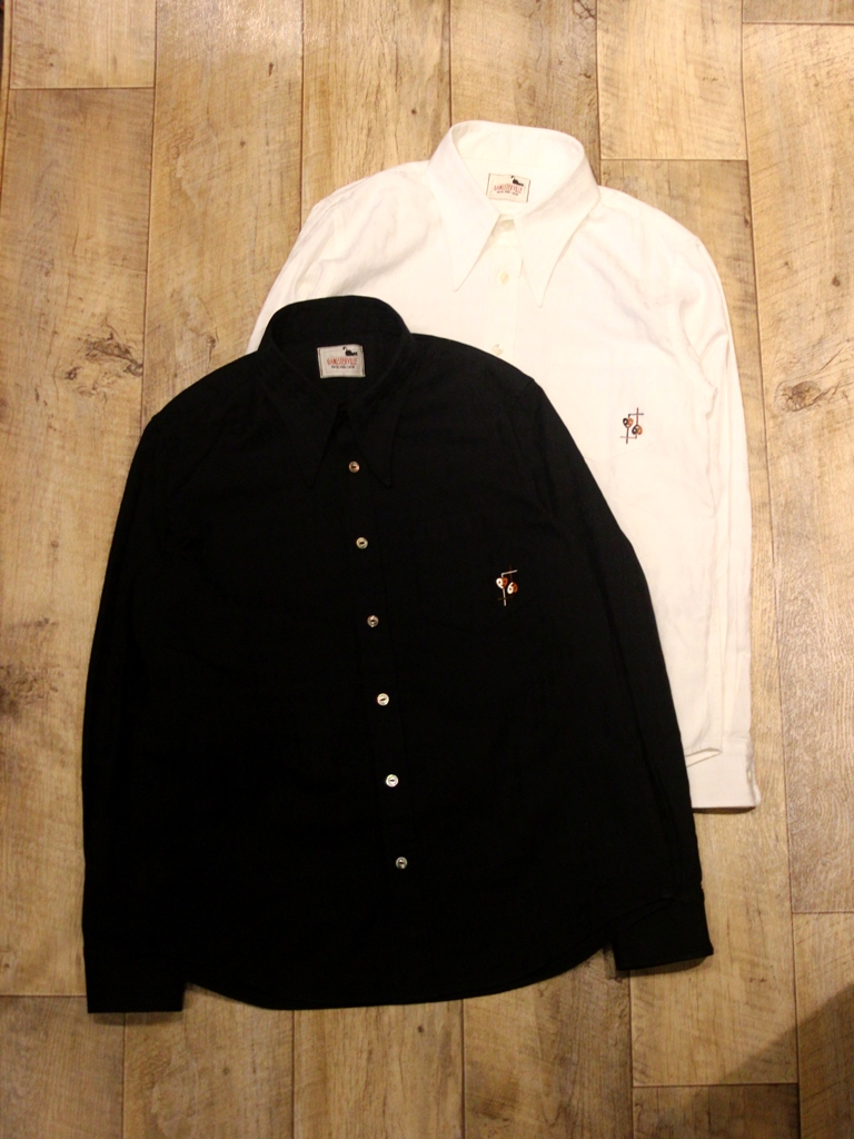 GANGSTERVILLE   「COMEDY TRAGEDY - L/S SHIRTS」   コットンドビーシャツ