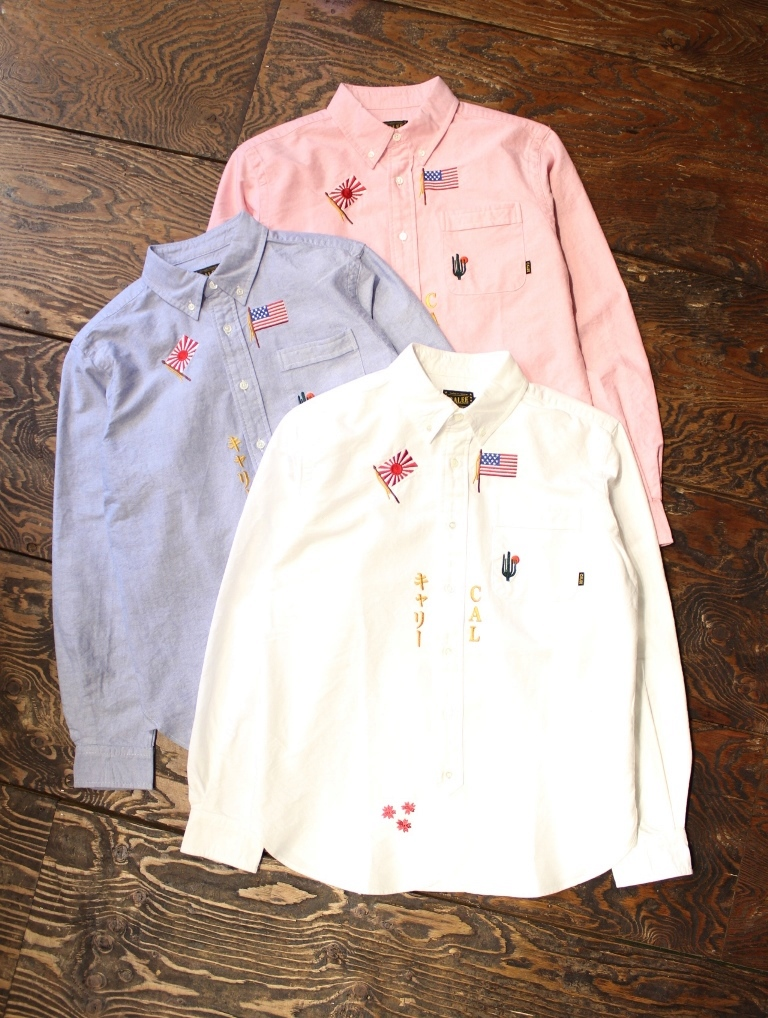 CALEE  「BUTTON DOWN EMBROIDERY L/S SHIRTS」  オックスボタンダウンシャツ