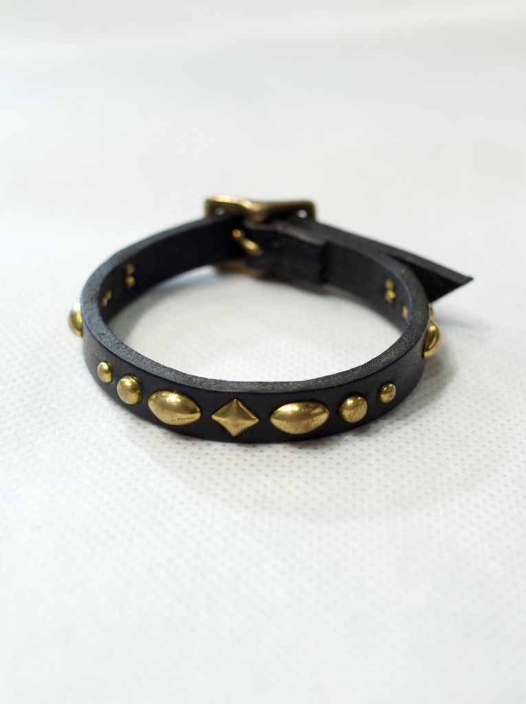 DEXTER  「Studs Leather Bracelet」 レザーブレスレット