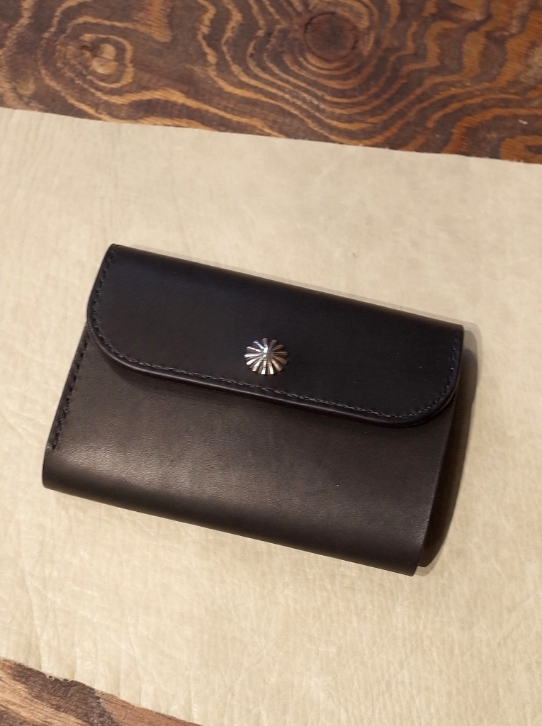 DEXTER 「Silver Concho Leather Middle Wallet  」  SILVER製コンチョ レザーミドルウォレット