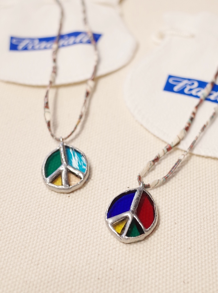 RADIALL × NEW TRAD Glass Art   「PEACE SYMBOL STAINED GLASS NECKLACE」  ステンドグラス ネックレス