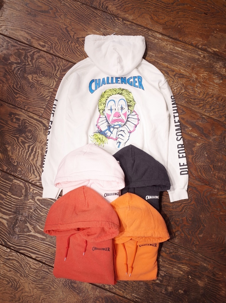 CHALLENGER  「WASHED CLOWN HOODIE」 プルオーバーパーカー