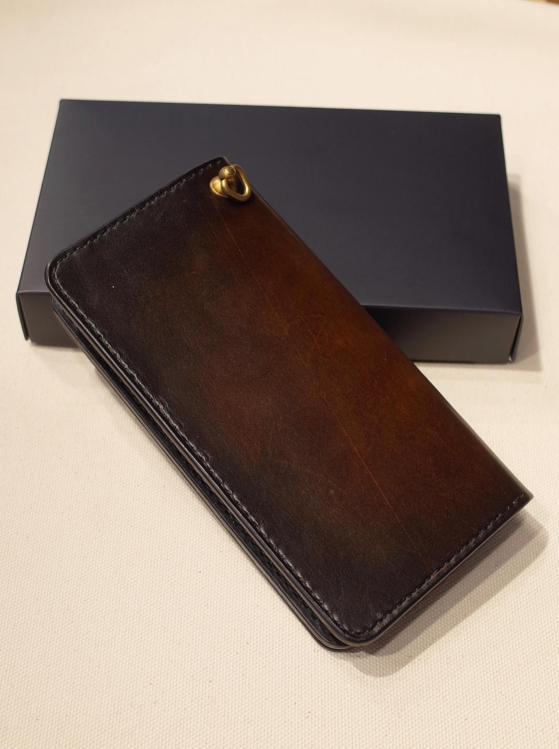 DEXTER  「 Hand Dyed Leather Plane Long Wallet」  レザーロングウォレット