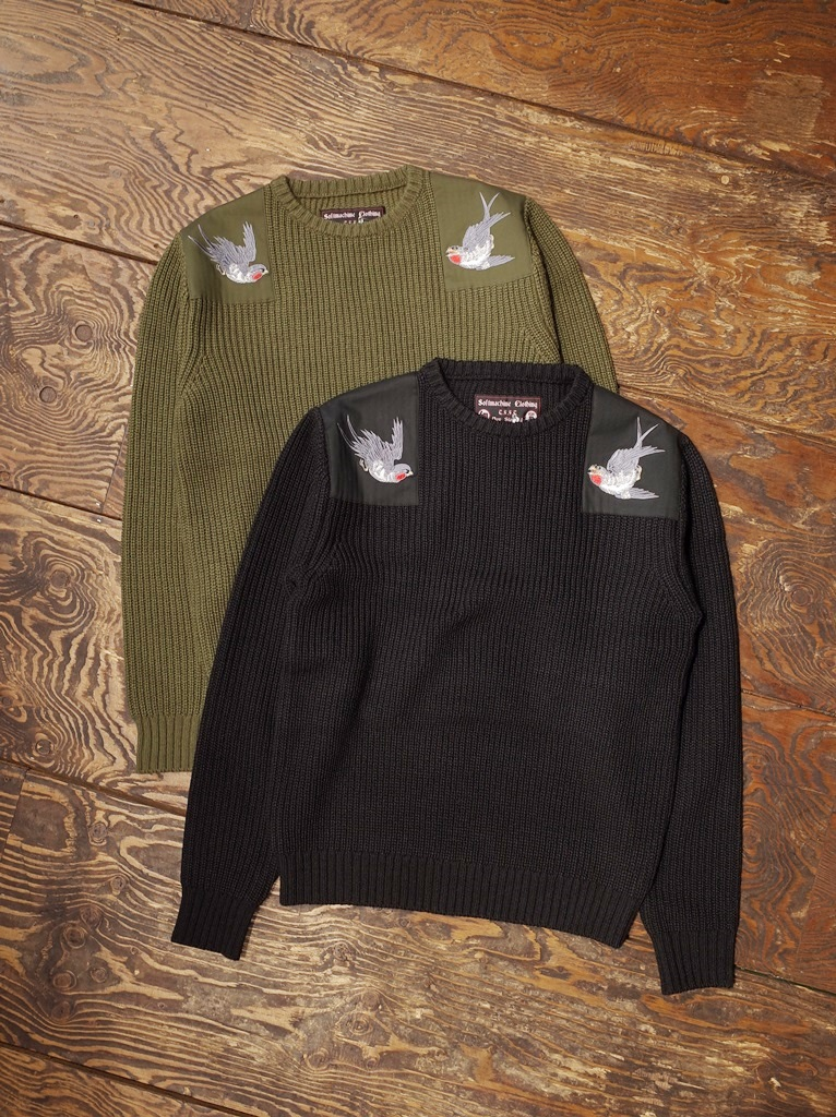 SOFTMACHINE  「SWALLOW SWEATER」  クルーネックセーター