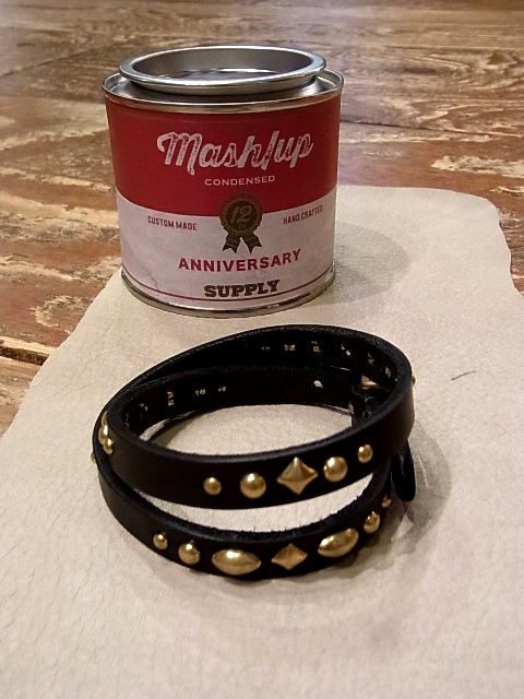 mash/up KOBE × DEXTER  「12 th anniversary Studs Leather Bracelet」 アニバーサリー スタッズレザーブレスレット