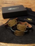 "GLAD HAND   「GH TAG - NARROW BRACELET ゛THANK YOU LOVE"" 」  レザーブレスレット"