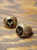 CALEE  「MILITARY COLLEGE RING」 BRASS製カレッジリング