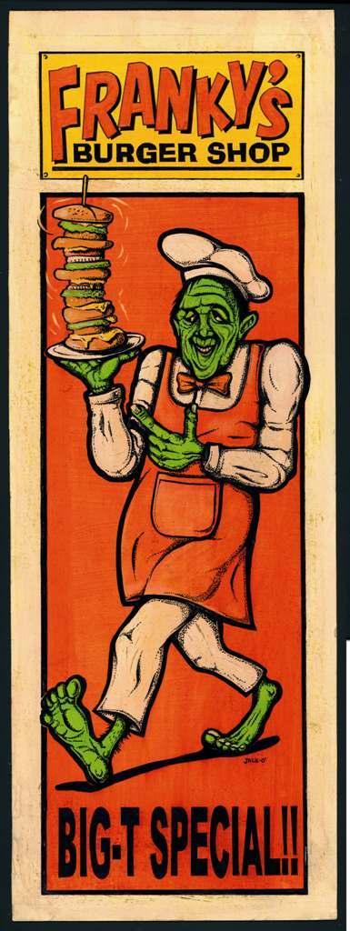 WZ LOWBROW COLLECTION   「FRANKY'S BURGER'」   フレーム入りポスター