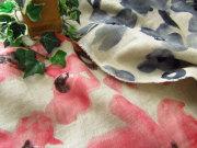 リネンダブルガーゼ 『watercolor * Flowe(ウォーターカラー フラワー)』