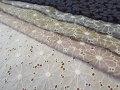 綿麻フラワー刺繍レース
