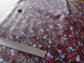 小花プリント つや消しラミネート(ブラウン系) 約50cmカット