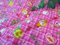 【キルティング】 アンパンマン ◇ チェックキルト ピンク