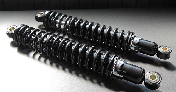 345mm細巻タイプリアショック黒×黒(KONIステッカー付)
