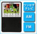 エスキュービズム 3インチ ワンセグTV FM/AMラジオ APR-02B