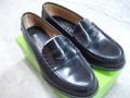 明 通学用革靴 女子用ローファータイプ 25.5cm