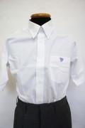 八 ボタンダウンシャツ(半袖) 4L