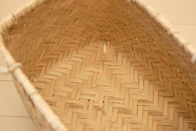 竹あじろ手付きカゴバッグ