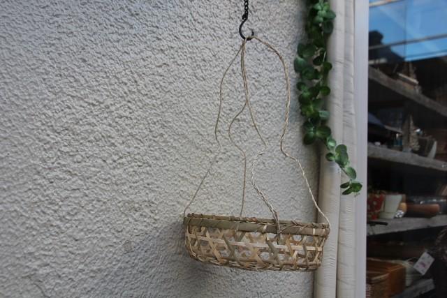 竹 六つ目吊りかご