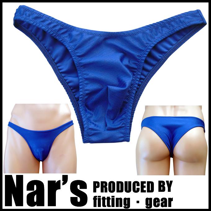 メンズ ネイビーブルー 波型柄 ハーフバック(9140)Nar's/フィッティングギア