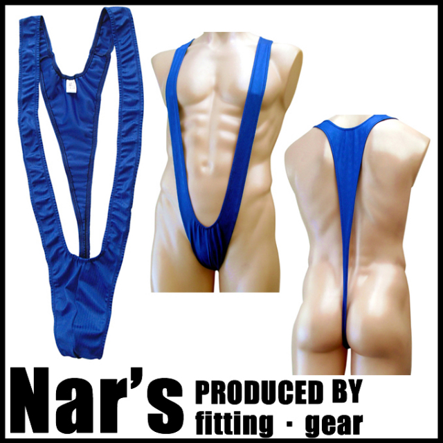 メンズ ネイビーブルー 波型柄 サスペンダー(09907)Nar's/フィッティングギア