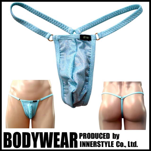 メンズ 水着 ペパーミントグリーン メタリック Gストリング (10354) 競泳パンツ/ボディウェアー