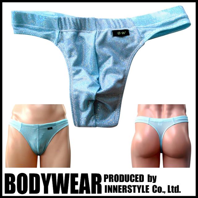 メンズ 水着 ペパーミントグリーン メタリック Tバック (114552) 競泳パンツ/ボディウェアー