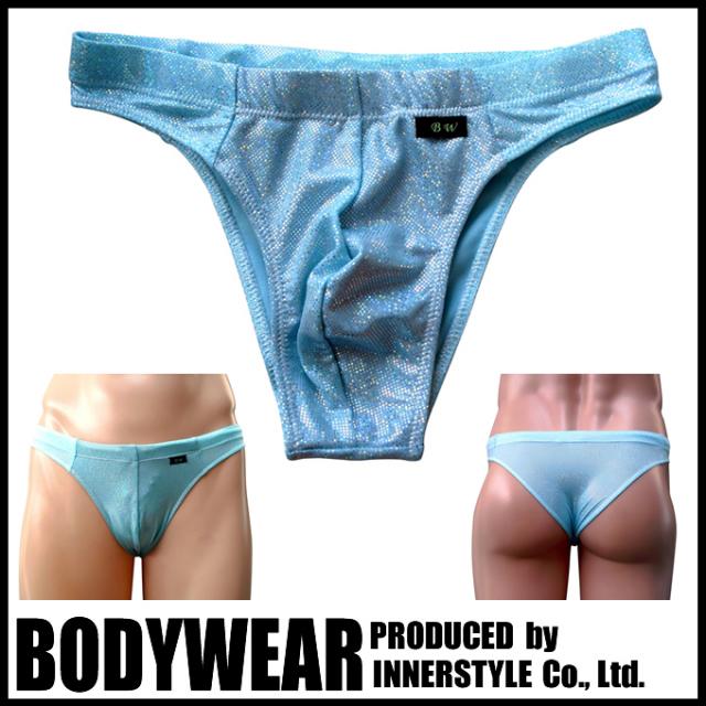 メンズ 水着 ペパーミントグリーン メタリック ハーフバック (224553) 競泳パンツ/ボディウェアー
