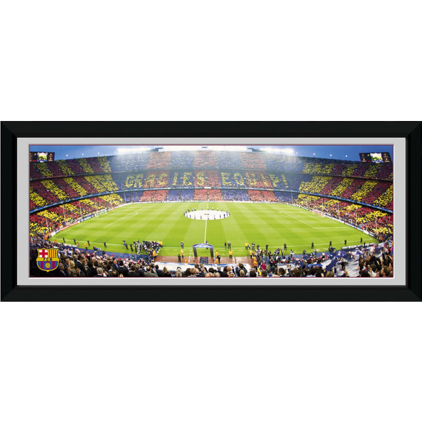 FCバルセロナ 額入りオフィシャルフォト Camp Nou 75x30cm