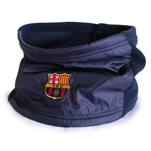 FCバルセロナ フリースネックウォーマー (ネイビー/ネイビー)