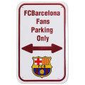 FCバルセロナ ファン以外駐車禁止サイン (白)