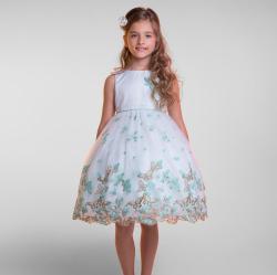スウィートバタフライ シンプルなメッシュドレス「SImple Sweet Butterfly Mesh Dress」2歳から12歳