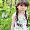 花柄シャーリングキャミソール