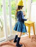 ブルードットスカート