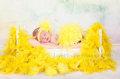 ふわふわフェザーおむつカバー&ヘアバンドセット☆newborn-12months