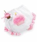お誕生日☆女の子バースデーバースデーカップケーキおむつカバー☆Mud Pie マッドパイ