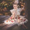 秋の花のプリンセスドレス「Autumn Flowers Girls Princess Dress」1歳から6歳