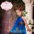 素晴らしい青い孔雀のドレス「Blue Wonder Girls Peacock Dress」0歳から6歳