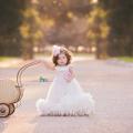 キュートなベビーシルクボディスフェザードレス「Cute Baby Silk Bodice Feather Dress」3ヶ月から18ヶ月