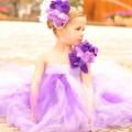 深紫の豪華なラベンダードレス「Lavish Lavender Deep Purple Dress」0歳から6歳