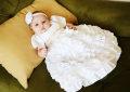 シルクシャンタンティアードドレス「Caroline」