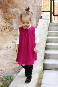 ふんわりジャンパースカート☆ガーリーなダークピンク!9months-6才【EUデザイナーから直送】【送料込】