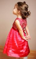 ゴージャスなホットピンクドレス♪パーティにピッタリ!9months-6才【EUデザイナーから直送】【送料込】