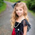 神聖な緋色のフラワードレス「Scarlet Red Devine Flower Girl Dress」2歳から12歳