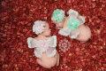 双子ベビー用天使の羽根&ヘアバンドセット