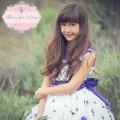ヴィンテージラベンダーローズフラワードレス「Vintage Sweet Lavender Rose Flower Girl Dress」5歳から10歳