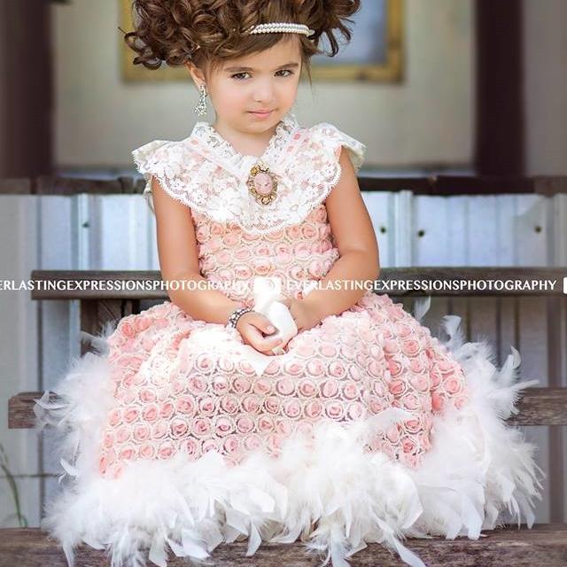 ヴィンテージサンシャイン フラワーガールドレス「Vintage Sunshine Flower Girl Dress」1歳から6歳