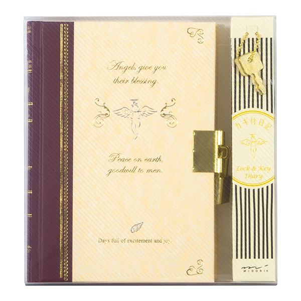 日記 鍵付 天使柄 (12370006)