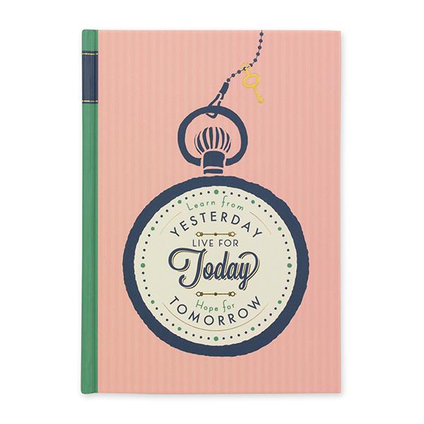 日記 メッセージ 時計柄