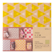 のび紙〈15角〉 三角柄 黄色 (23377006)